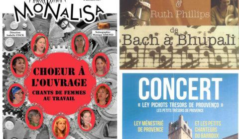 Les Tamaris Weekend de concerts à Vaison la Romaine